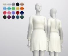 Long sleeve dress at Rusty Nail • Sims 4 Updates