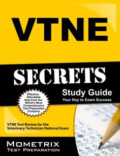 ***Includes Practice Test Questions***VTNE Secrets helps you ace the Veterinary Technician National Exam, without weeks and months of endless...