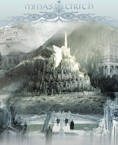 City of Kings Fellowship Of The Ring, Lord Of The Rings, Middle Earth Books, Minas Tirith, Earth Memes, Journey's End, The Two Towers, Jrr Tolkien, Dark Lord