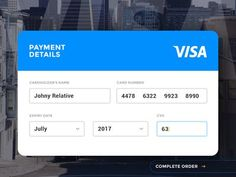 credit card design Dribbble - Day 004 - Credit Card Payment by Paul Flavius Nechita Credit Card App, Credit Card Design, My Credit Score, Credit Cards, Mobiles, Card Ui, Daily Ui, Ui Web, Ui Elements