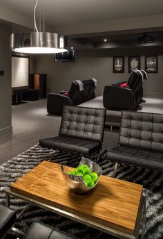 Home Theater Basement Design Ideas, Pictures, Remodel and Decor Home Theater Basement, Home Theater Rooms, Home Theater Design, Basement Ideas, Cinema Room, Living Room Designs, Living Spaces, Media Room Design, Contemporary Decor