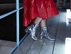 Sassy Minna Parikka boots for women. Occult, Mirror, Boots, Sneakers, Silver, Women, Fashion, Shearling Boots, Trainers