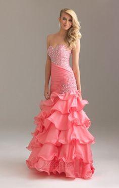 Simple Pink Mermaid Floor-length Taffeta Sweetheart Dress With Sequins