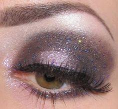 Glitter is my crack...: galaxy eye makeup