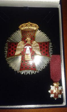 Placa y Miniatura de Comendador de la Orden del Águila de Georgia.