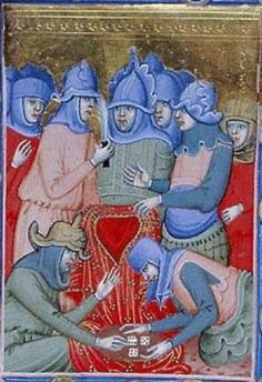 Morgan M.360 Hungarian Anjou legendary. Folio 10r. 1325-1335, Bologna, Italy. From the Morgan Library. Dice.