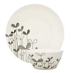 MissPrint Saplings plate and bowl.