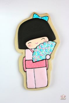 {Video} Decorating Kokeshi Doll Cookies {Doll 1} | Sweetopia