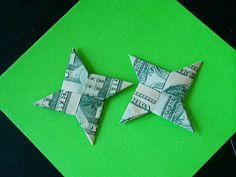 Picture of Dollar Bill Shuriken (Origami Ninja Star) **Now with Video