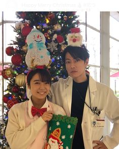 Taiwan Drama, Happy Merry Christmas, Takeru Sato, Japanese Drama, Falling In Love With Him, Aesthetic Stickers, Best Couple, Kdrama, Christmas Ornaments