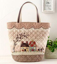 キット・可愛いスカラップとハウスのバッグ