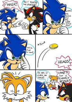 Sonic Funny Moments - For Tails sakes Shadow The Hedgehog, Silver The Hedgehog, Sonic The Hedgehog, Cute Comics, Funny Comics, Sonic Underground, Sonic Funny, Sonic Franchise, Sonic Fan Characters