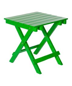Take a look at this Green Adirondack Side Table by OC Funsaks on #zulily today!
