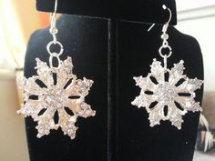 Check out this item in my Etsy shop https://www.etsy.com/listing/213260379/handmade-rhinestone-snowflake-dangle