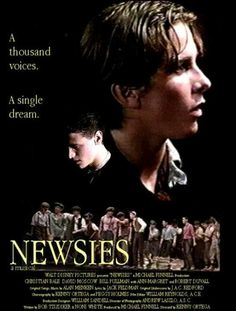 Newsies- Disney <---- I am ashamed to say that I have not yet seen this movie