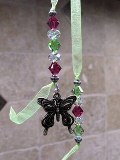 Swarovski Beaded Bookmark with Butterfly by SerenitySunCrystals - Mark your place in your favorite book with this pretty sparkle!