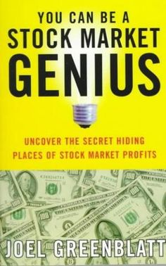 Fund manager Joel Greenblatt has been beating the Dow (with returns of 50 percent a year) for more than a decade. And now, in this highly accessible guide, he's going to show you how to do it, too. http://seekingalpha.com/article/1168971-you-can-be-a-stock-market-genius-uncover-the-secret-hiding-places-of-stock-market-profits