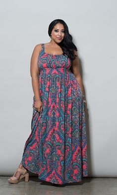 Paisley Maxi Dress $69.90 by SWAK Designs #swakdesigns #Curvy #PlusSize