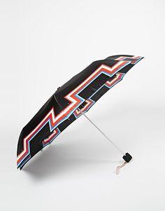 Schirm von Fulton mit bunt gemustertem Schirm einschiebbarer Metallrahmen mit kontrastierendem Armband passendes Etui Mit feuchtem Tuch abwischen. 100% Polyester