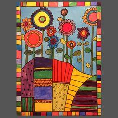 Se Maleriet Flowers And Fields i galleriet på MyArtSpace.dk