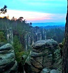 """The natural reservation """"Prachovské skály"""" (Prachov Rocks)"""