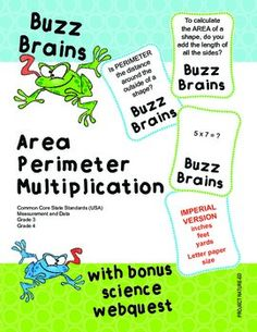Get your students brains going with this Buzz Brains card game activity by Project Nature-Ed! Students will be required to perform mental arithmetic and apply knowledge of times tables to solve the area and perimeter problems. Print, laminate, cut and you're ready to go.USING THE CARDSIn your classroom, use these cards at a Maths activity centre or post around the classroom for students to find and complete.