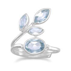 Sterling Silver Multishape Blue Topaz Ring