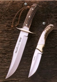 Muela Knives, hunting knife, BW classic-19A knife, setter-11A. Stang blade.