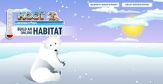 Interactive Education: Build a Habitat...Fantastic activity!!! Click on the polar bear picture to get to the activity!