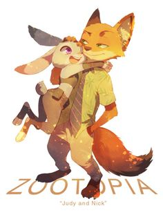 they're so cuuuuute! Zootopia Fanart, Zootopia Comic, Nick Wilde, Disney Zootropolis, Disney Love, Nick And Judy, Disney Animated Movies, Fox Art, Walt Disney Company
