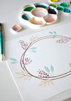 tabletop 1 In The Studio of Eva Juliet | Pretty Paintings and Illustrations from Mon Carnet Blog