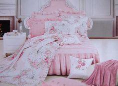 Shabby and Elegant New Pink Cotton Matching Pillow Sham | eBay