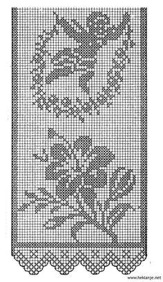 Shema Za Heklanje V 19 – Heklanje Crochet Curtain Pattern, Crochet Curtains, Crochet Tunic, Crochet Doily Patterns, Crochet Quilt, Crochet Cross, Thread Crochet, Diy Crochet, Vintage Crochet