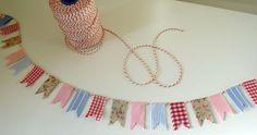 Tiny bunting string,