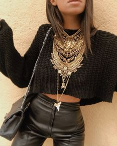 All Black Fashion, All Black Outfit, Dope Fashion, Boho Outfits, Fashion Outfits, Preppy Style, My Style, Dressed To Kill, Gypsy Style