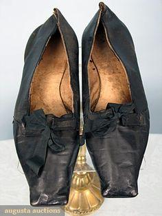 Vintage 70s Evening Shoes Black Satin Regency 3 12 Inch
