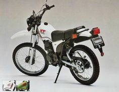 Honda 125 xl 8 enduro classic souvenirs pinterest for Honda yamaha montgomery al