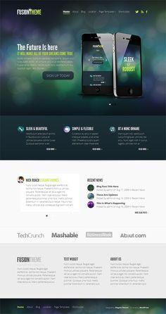 'Fusion' responsive WordPress theme, strak design. Veel opties en personaliseringsmogelijkheden. $39. Demo & download: http://www.elegantthemes.com/gallery/fusion/