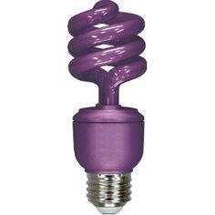 GE 78957 Energy Smart 13-Watt Spiral Compact Fluorescent Bulb Lavender
