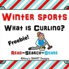 Freebie of my Winter Sports Reading Warm-up  Series!  FREEBIE about Curling