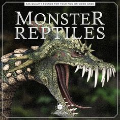Breathe life into your MONSTER REPTILES with this gigantic pack of realistic, royalty-free, high-quality creature voice overs, foley and just about every other sound you'll ever need! Some of the included sounds are: ATTACK, IDLE SOUNDS, WARNING ROARS, HURT AND DIE SCREAMS, BODY & MOVEMENT SOUNDS … and many more, all in 3 creature sizes - SMALL, MEDIUM, LARGE! [If you need even broader variety of reptile sounds and sound effects of all other monster species, be sure to get our Complete…
