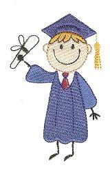 Stix Boy Graduate - 4X4! | Graduation | Machine Embroidery Designs | SWAKembroidery.com Designs by Juju