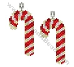 Large Candy Cane Earring Bead Pattern By ThreadABead