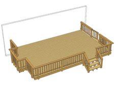 Best 24 X 12 Deck W Wide Stairs At Menards Dream Home Pinterest Decking Deck Design And 400 x 300