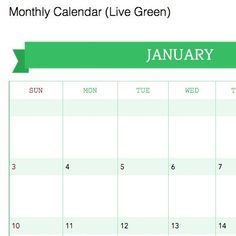 Download: templates for calendars and planners for Evernote