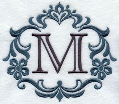 Damask Letter M