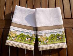 Best a applique towels images dish towels kitchen towels