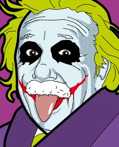 Albert Einstein meets The Joker ©Greg Gullemin