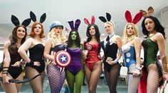 Marvel Comics Cosplay!    Hey if you're gonna go sexy, at the very least you can go creative... better than the thirty billion catwomen and slave Leias...