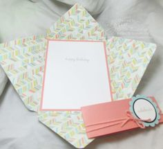 cute card and envelope in one made with the new Envelope Punch Board from Stampin' Up!
